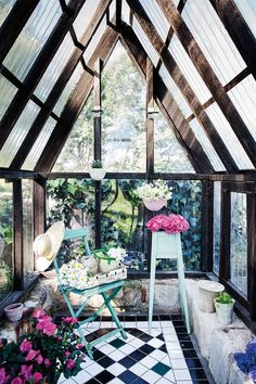 Miniature greenhouses are the latest stunning backyard trend Miniature greenhouses are the latest st Outdoor Spaces, Outdoor Living, Miniature Greenhouse, Window Greenhouse, Garden Nook, Christmas Campaign, Luxury Pools, Water Sources, Thinking Outside The Box