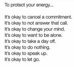.Protect your energy