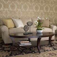 oval coffee table-inspiration  Adler Oval Coffee Table - Ethan Allen US