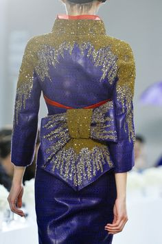 L'Wren Scott Spring 2014...Wow, imagine this jacket  over a simple but elegant gown.Take these details & adjust to fit your style.