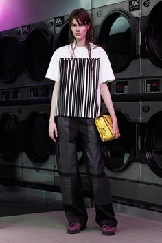 Alexander Wang resort '15: boxy graphic top with loose pants