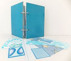 Mixed Paper Journal. Blue Journal. Rescued by peonyandthistle, £19.00