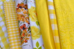 Shades of Yellow Eco Friendly Napkins by Dot and Army. $4.00, via Etsy.