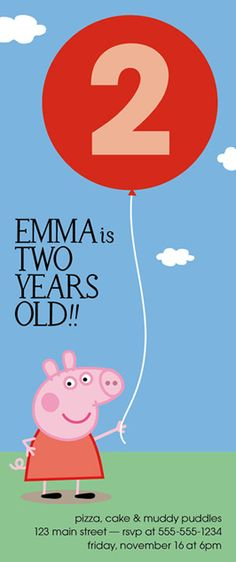Peppa Pig Birthday Party Invitation  Printable by helloinklings, $15.00