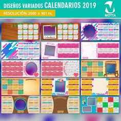 Calendar 2019 for Sublimation Mugs-Yearbook for Mugs-calendars for stamping cups-calendar templates PSD Mug Template, Sublimation Mugs, Digital, Etsy, Design, Calendar Templates, Adobe Photoshop, Stamping, Coloring