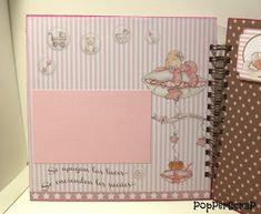 PopPerScraP: Álbum bebe Dayka niña Mini Scrapbook Albums, Big Shot, Notebook, Diy Projects, Frame, Scrapbooking, Aurora, Ideas, Baby Scrapbook Layouts