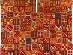 Fine textiles like this Inca cloth made around 1550 were the most highly valued product of human labor.