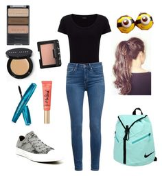 Babysitting outfit by yasmeenf on Polyvore featuring polyvore, fashion, style, Joseph, Paige Denim, Converse, NIKE, Bobbi Brown Cosmetics, Wet n Wild, NARS Cosmetics and Too Faced Cosmetics