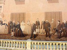 Mural de personalidades de la historia de Cuba, La Habana.