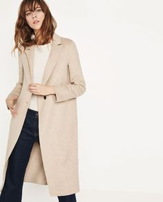 Image 2 of HAND MADE MASCULINE COAT from Zara