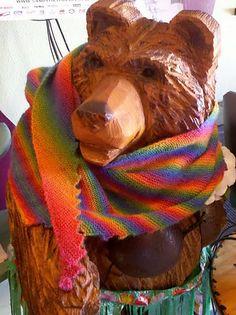 ʻĀnuenue Hitchhiker Scarf made with Mini Mochi Intense Rainbow