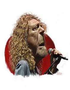 Robert Plant Sawyer Illustration Inc. caricature and cartoon art studio Cartoon Faces, Funny Faces, Cartoon Drawings, Cartoon Art, Funny Caricatures, Celebrity Caricatures, Robert Plant, Heavy Metal, Caricature Drawing