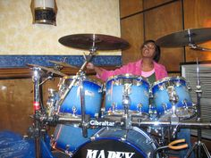 Ashley on the drums ... nicest_drummer_girl@yahoo.com
