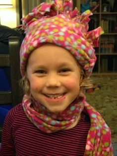 Operation Christmas Child no-sew fleece hats and scarves