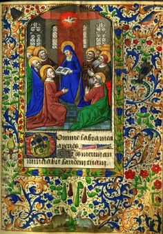 Leaf from a Book of Hours  extraordinary illuminated pages.