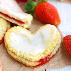 Homemade-Strawberry-&-Cream-Cheese-Toaster-Strudels Recipe - RecipeChart.com #Dessert #ValentinesDay