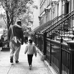 "This father walked his daughter down my block this morning and said to her, ""Remember in school, you are a leader, not a follower."" And then he had her repeat after him, ""I am a leader, not a follower."" 💪🏻 #whoruntheworld"
