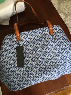 Street Level Anchorage Diamond Printed Tote/ From my April Stitch Fix Box.