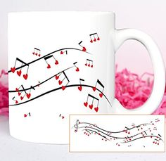 Music of Love Coffee Mug Treble Clef Coffee Mug Musical Notes Coffee Mug Love Gift Coffee Mug >>> Visit the image link more details. Note:It is affiliate link to Amazon.