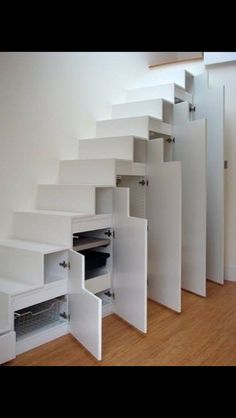 Stairs, I could do this to the very bottom set maybe since that's all wasted space in the pantry.
