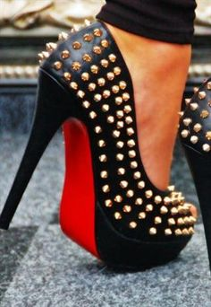 Studded+Spike+Platform+Heel+with+Rivets+Peep+Toe