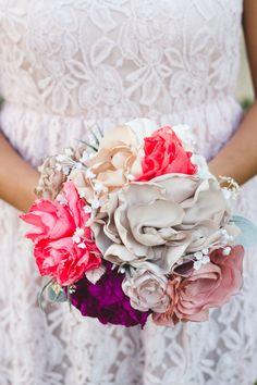 Ragga Wedding lush, tropical fabric flower bouquet | from $82