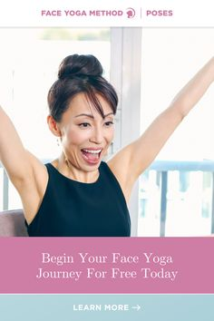Want to start your Face Yoga Journey? Today's THE DAY! #faceyoga Facial Yoga, Facial Muscles, Face Yoga Method, Face Yoga Exercises, Under Eye Wrinkles, Reverse Aging, Yoga Fitness, Yoga Poses, Journey