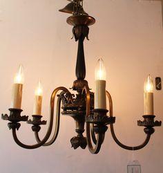 Vintage Lighting at Knots & Weaves #KnotsAndWeaves #VintageLighting #Chandelier