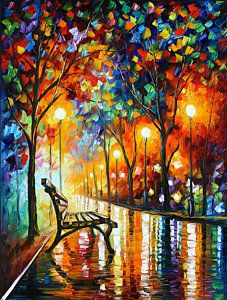 Abstract Painting - Loneliness Of Autumn by Leonid Afremov