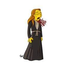 "Catelyn Stark (dead) from ""Game of Thrones"" / Simpsonized by ADN"