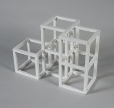 """Sol LeWitt, """"Maquette for 1 x 2 x 2 Half Off,"""" 1990, paint on wood, 10 x 14 3/4 x 7 3/4 inches (25.4 x 37.5 x 19.7 cm) © 2012 The LeWitt Estate / Artists Rights Society (ARS), New York"""