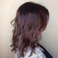 Rose Gold Hair / Balayage / Lob / Brunette