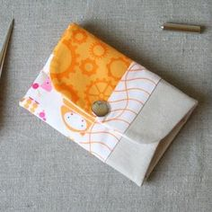 Snap Pouch sewing project with instructions