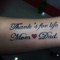 Love Mom Dad Tattoo Love Mom Dad Tattoo Incredible Ink Tattoos