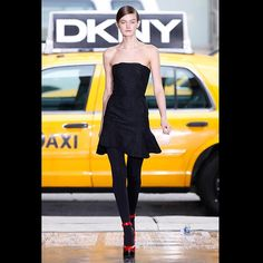 Photos of the runway show or presentation for DKNY Fall 2012 RTW Shows in New York. Strapless Dress Formal, Formal Dresses, New York Fashion, Hosiery, Catwalk, Spring Fashion, Women Wear, Stylish, Model
