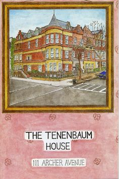 The Royal Tenenbaums House Charts by Eric Chase Anderson