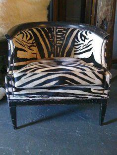 Zebra chair LOVE IT!!!!!!!