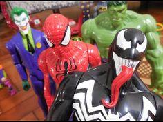 Venom Marvel inimigo Homem Aranha boneco Coringa Joker Hulk Homem de Fer...