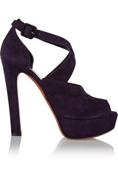 Ala�a Suede sandals   THE OUTNET