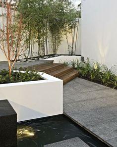 Garten Gestaltung Stein Teich