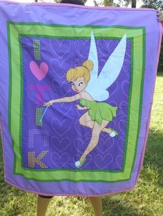 We have this lovely tinkabell cot quilt  for some little tink fan  $60+p+h