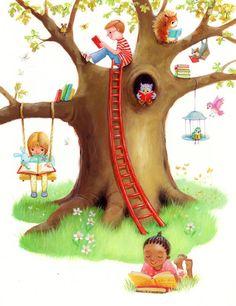 reading kids by Alison Edgson Reading Art, Kids Reading, Classe Dojo, I Love Books, My Books, Library Art, Children's Book Illustration, Book Lovers, Illustrations Posters