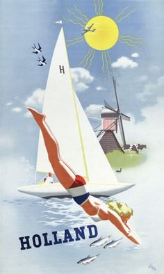 Holland Vintage Travel Poster – Vintagraph