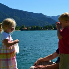 My son taking his friend's picture at the Tegernsee in Bavaria.
