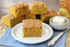 Doesn't this look GOOD??? Pumpkin cornbread! (I'm thinking it would work well served warm with butter for breakfast alongside a cold beer.)