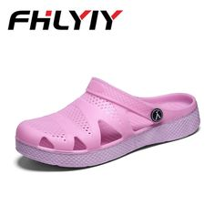 c43e634a46 US $21.0 |Women Sandals Summer Slippers Shoes Croc Casual Beach Sandal  Fashion Flat Slip on Flip Flops Women Hollow Shoes Outdoor Shoes-in Low  Heels from ...
