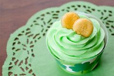 Lime Cheesecake Cupcakes with Gold Coins (from Penny Candy Studios)