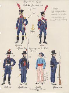 Royaume de Naples Ecole de Mer 1813_1815 Marins équipage