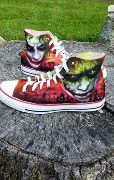 1c188a429ed7f6 The Joker Vans dark knight heath ledger batman Custom Canvas Shoes Running