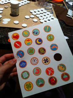Making merit badges from Disney movie UP using transparency paper, tacky glue and furniture felt..